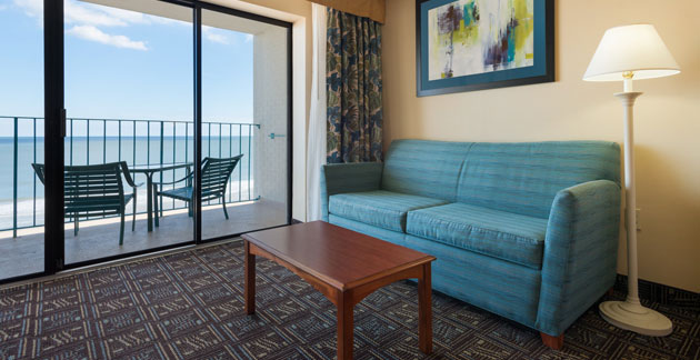 Premium Oceanfront Efficiency Room at Quality Inn Boardwalk - Ocean City