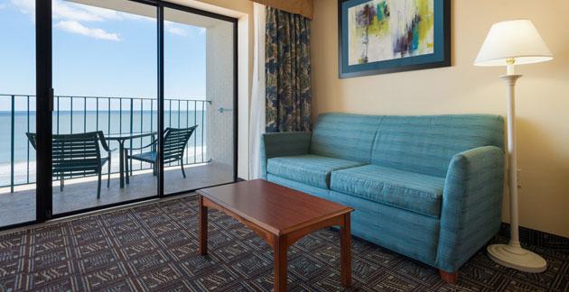 Premium Oceanfront Efficiency Room at Quality Inn Boardwalk - Ocean City